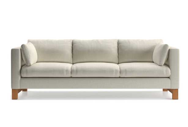 Pacific 3-Seat Track Arm Grande Sofa with Wood Legs - Crate and Barrel