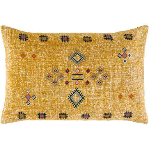 "Sierra Pillow, 13""x 20"", Mustard - Roam Common"