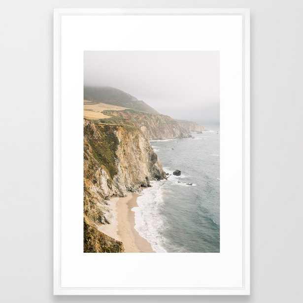 Big Sur California - Vector White - Society6