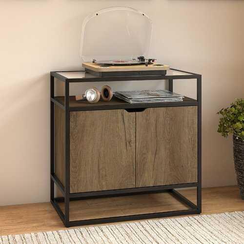 Alcantar Record Player Stand Audio Cabinet - Wayfair