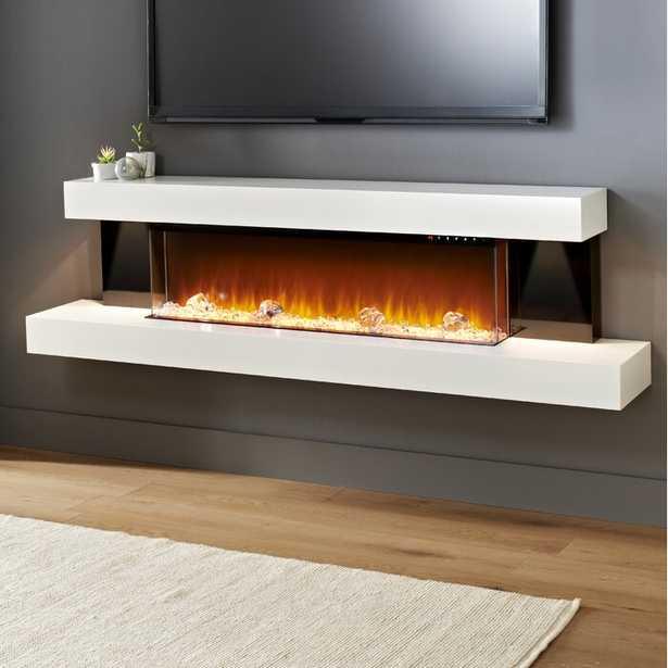 Tanessa 72'' W Surface Wall Mounted Electric Fireplace - Wayfair