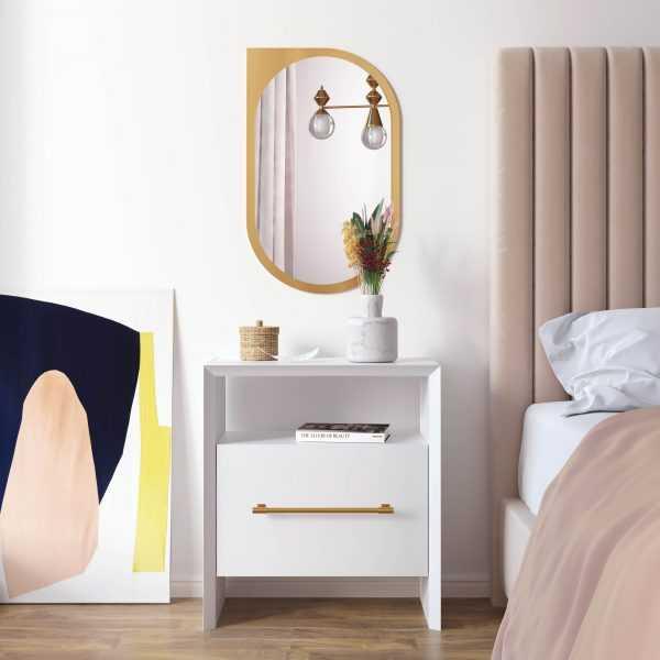 Libre White Nightstand - Maren Home