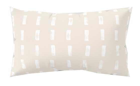 dash blush Rectangular Pillow - 17x12 - Society6