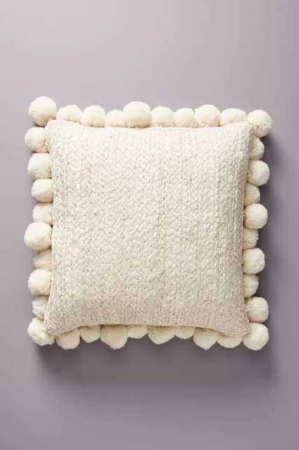 """Pommed Jute Pillow, 18"""" x 18"""" - Anthropologie"""