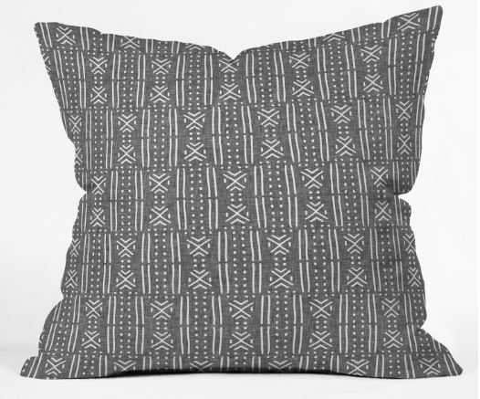 MUDCLOTH LINEN Throw Pillow Cover - 18x18 with insert - Wander Print Co.
