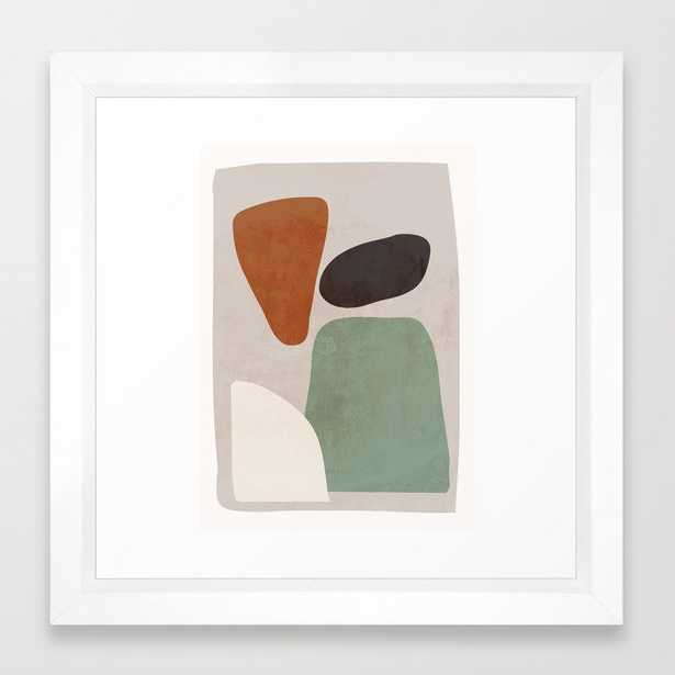 Abstract Shapes 12 Framed Art Print by ThingDesign - Society6