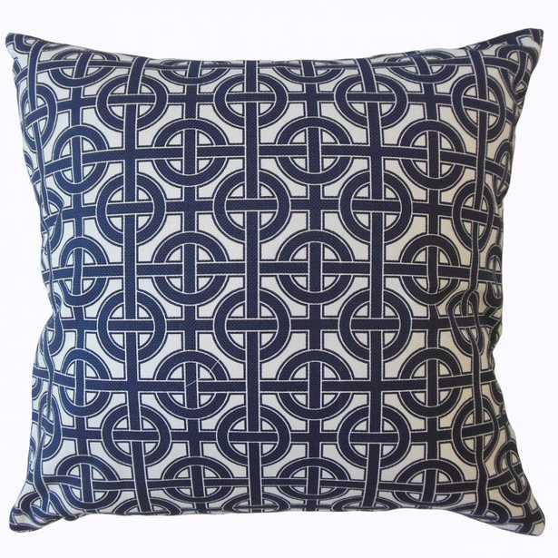 """Quillon Geometric Pillow - 20""""x20"""" down insert - Linen & Seam"""