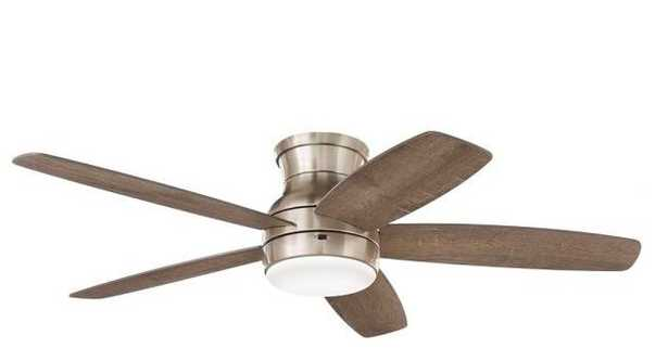 Ashby Park 52 in. White Color Changing Integrated LED Brushed Nickel Ceiling Fan with Light Kit and Remote Control - Home Depot