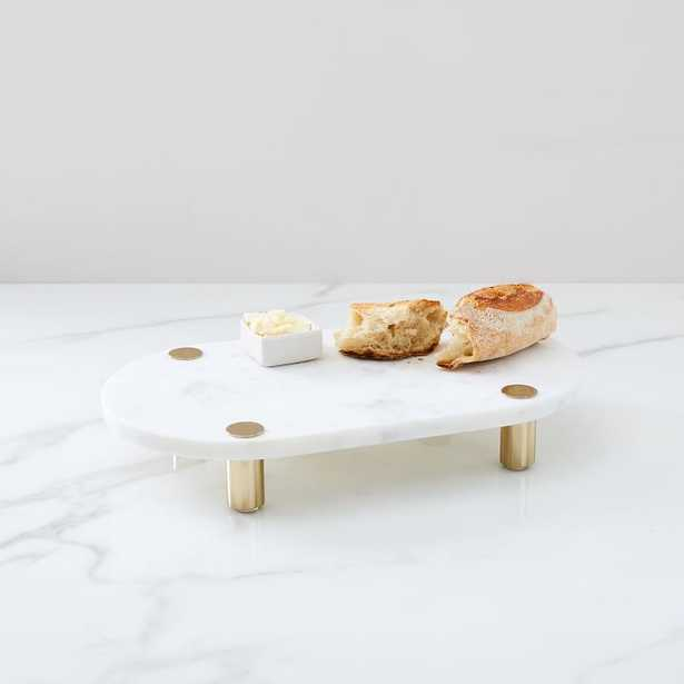 Marble & Brass Footed Board - West Elm