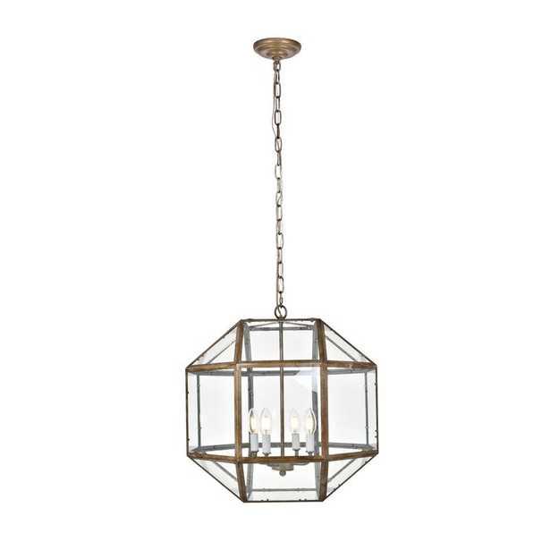 Burkeville 4-Light Geometric Chandelier - Wayfair