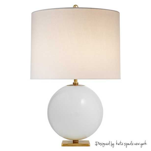 ELSIE TABLE LAMP WITH CREAM LINEN SHADE - CREAM - McGee & Co.