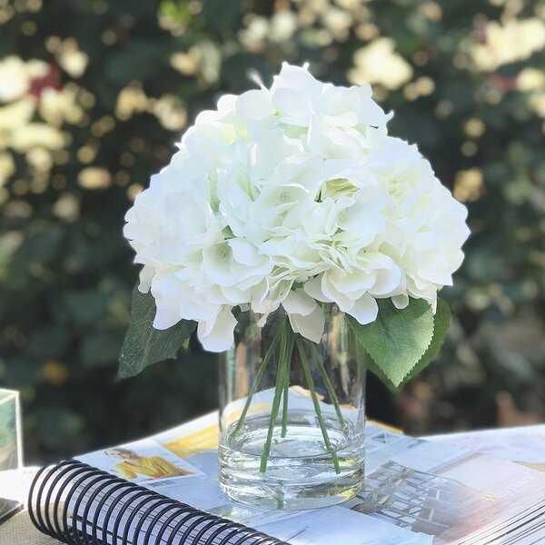 Hydrangea Arrangement in Vase - Wayfair