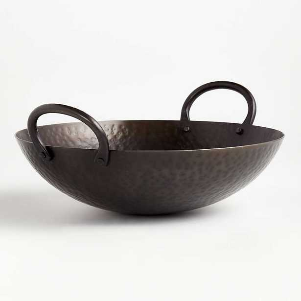 Feast Hammered Iron Serving Bowl - CB2