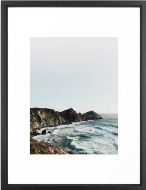 Big Sur framed art print Small - Society6