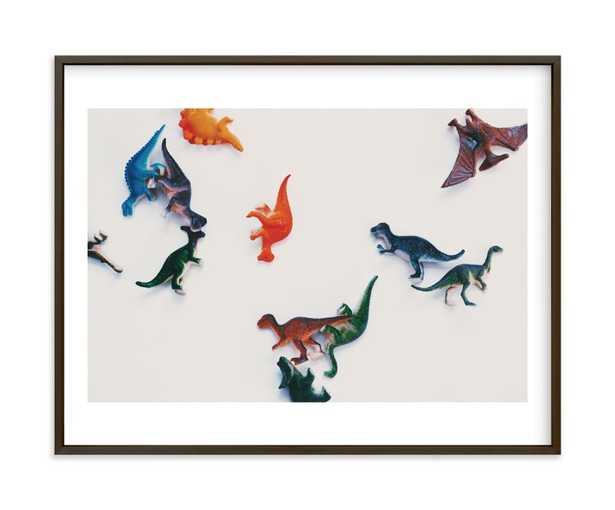 "Dinosaurs Wall Art - Matte Black Frame - 14.5"" x 11.5"" - Minted"