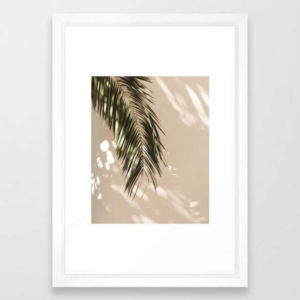 """tropical palm leaves - 15"""" x 21"""" - vector white - Society6"""