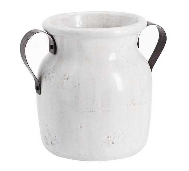 Marlowe Ceramic Urn, White - Small - Pottery Barn