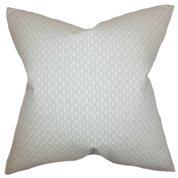 "Orit Geometric Pillow Gray - 20"" x 20"" - Down Insert - Linen & Seam"
