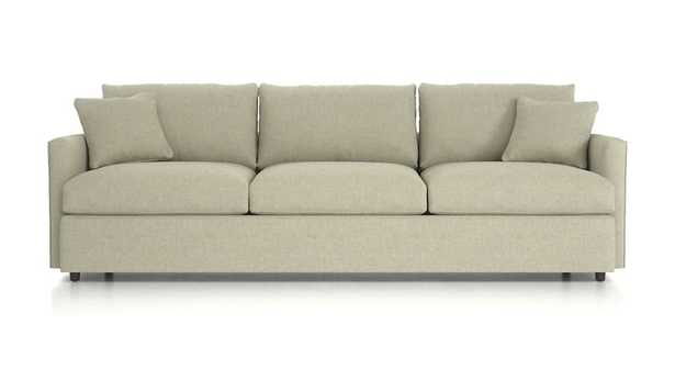 "Lounge II Petite 3-Seat 105"" Grande Sofa - Taft Cement - Crate and Barrel"
