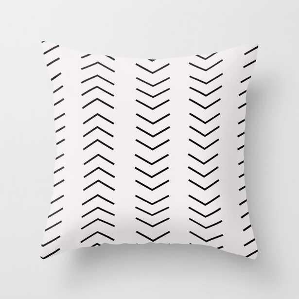 Mudcloth Pattern White Black Arrows Throw Pillow - Society6