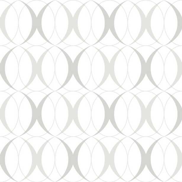 "Cochranville 18' x 20.5"" Light Silver Wallpaper Roll - Wayfair"