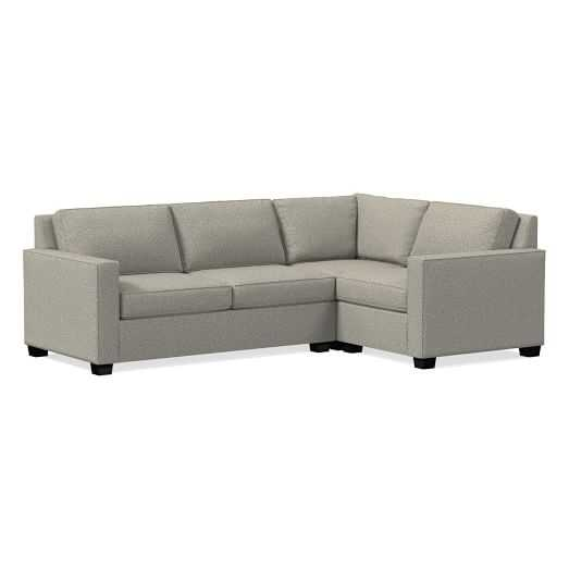 Henry® 3-Piece Sectional - Left Facing - Twill, Gravel - West Elm