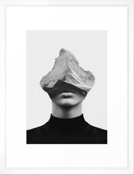 INNER STRENGTH Framed Art Print vector white frame - Society6