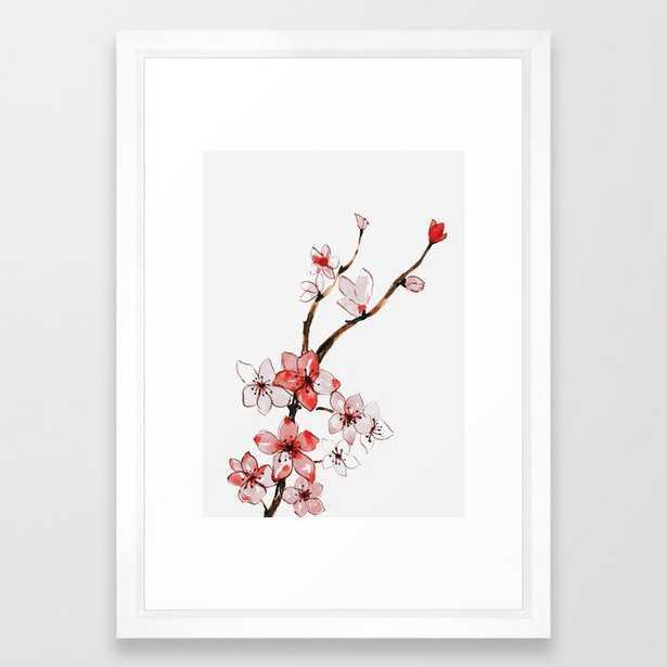 Cherry blossom 2 Framed Art Print - Society6