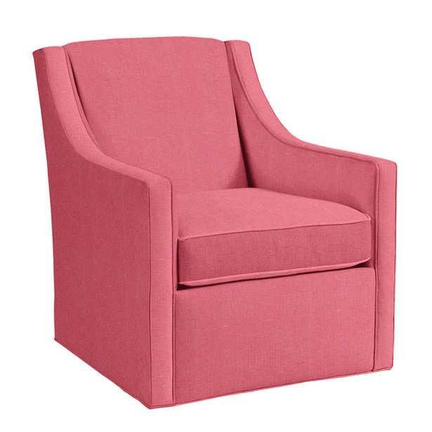 Carlyle Swivel Chair - Suzanne Kasler Signature 13oz Linen Peony - Ballard Designs