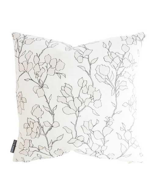 """BLAIR SKETCHED FLORAL PILLOW COVER WITHOUT INSERT, 24"""" x 24"""" - McGee & Co."""