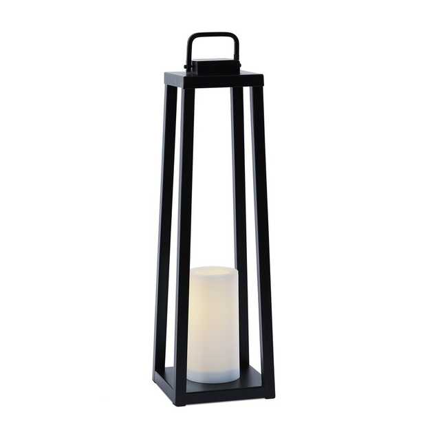 Redvale Battery Powered LED Outdoor Lantern with Electric Candle - Wayfair