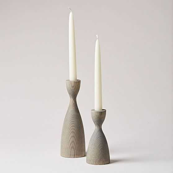 Pantry Candlestick, Small, Gray - West Elm