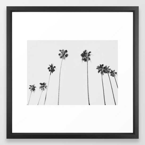 Black & White Palms Framed Art Print - Society6