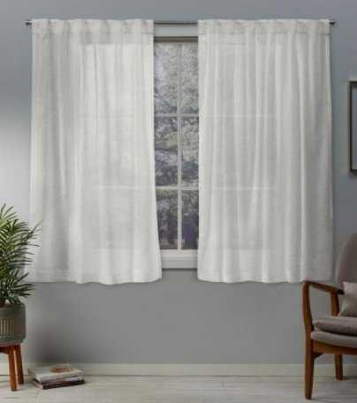 Exclusive Home Curtains Belgian Snowflake Sheer Hidden Top Curtain - 50 in. W x 96 in. L (2 PANELS) - Home Depot