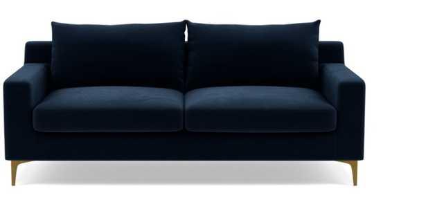 "SLOAN Fabric Sofa - 87"" Navy Velvet - Interior Define"