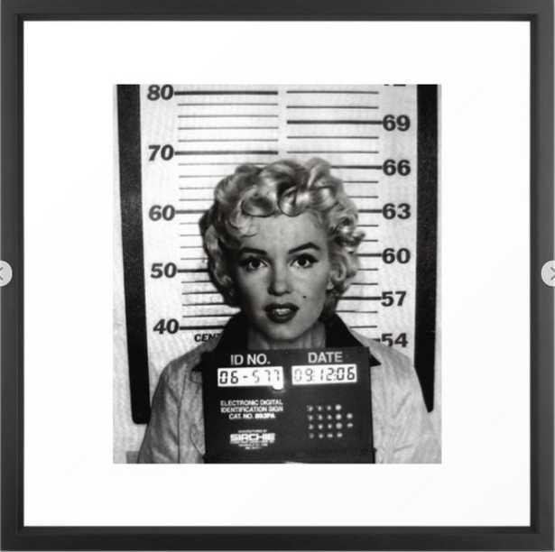 Monroe Mugshot Framed Art Print - Society6