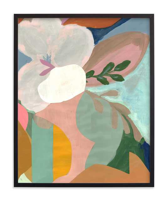 "Birthday Bouquet II -  24"" X 30"" - Rich Black Wood Frame - Standard - Minted"