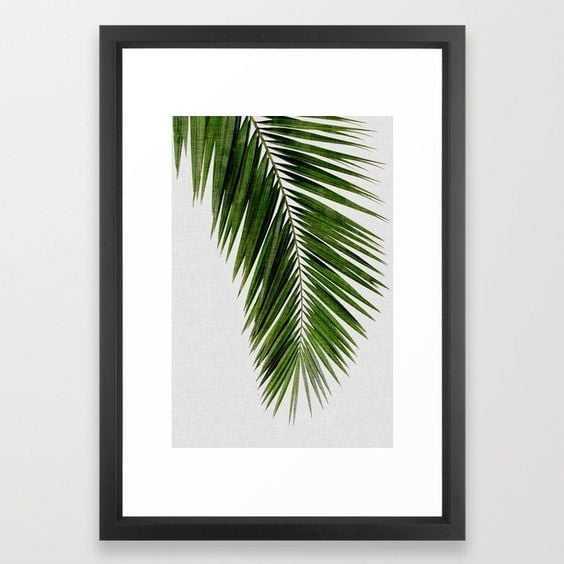 Palm Leaf I Framed Art Print - 15 x 21 - Society6