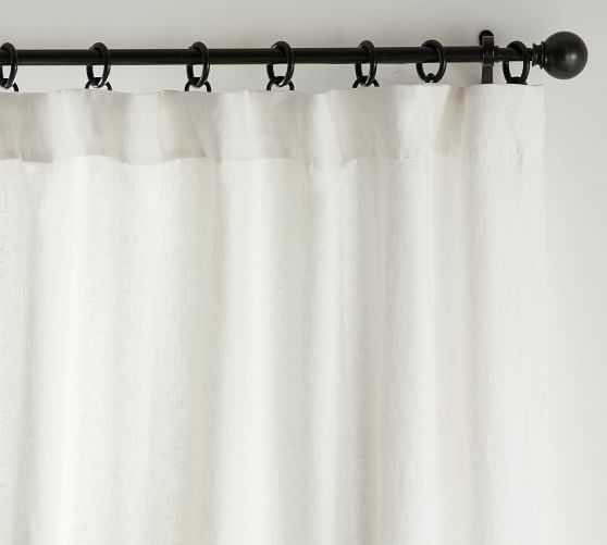 "Classic Belgian Flax Linen Curtain, Classic Ivory 50 X 96"", - Pottery Barn"