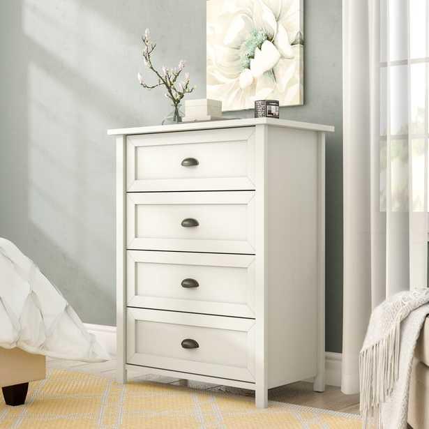 Geraldine 4 Drawer Chest ( white) - Wayfair