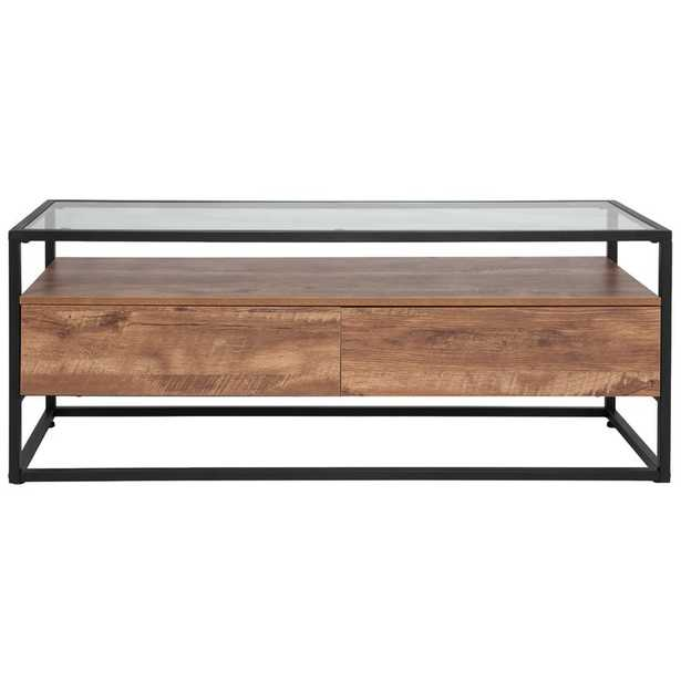 Riaan Coffee Table with Storage - Wayfair