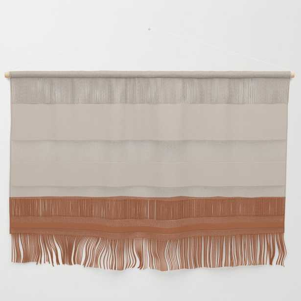"""Minimalist Solid Color Block 1 in Putty and Clay Wall Hanging_Large 47"""" X 32 1/4"""" - Society6"""