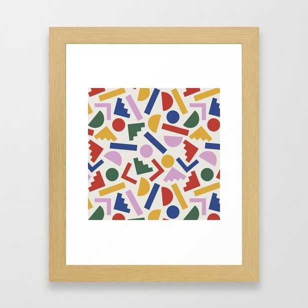 Colorful Geometric Shapes Framed Art - Society6