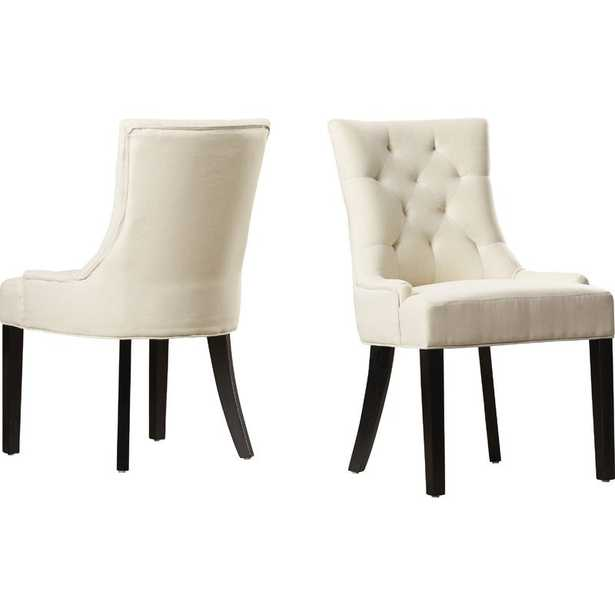 Grandview Upholstered Dining Chairs (Set of 2) / Beige - Wayfair