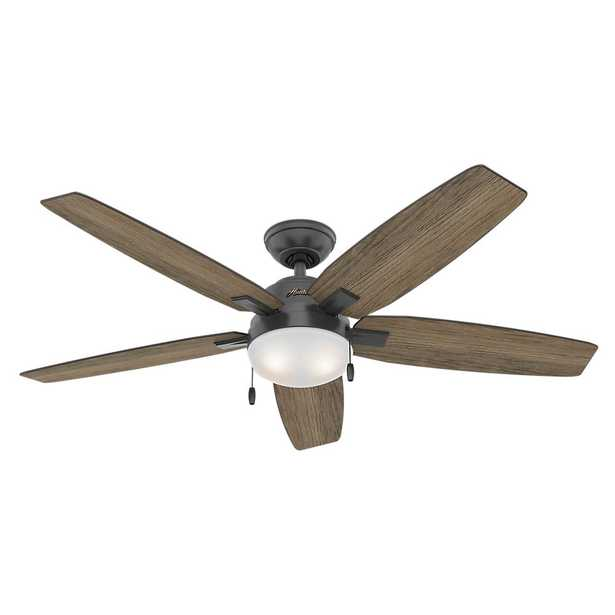 Antero 54 in. LED Indoor Matte Black Ceiling Fan with Light - Home Depot