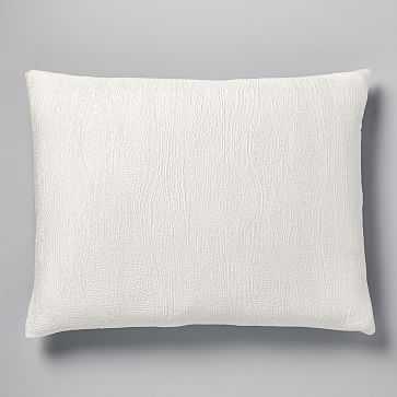 TENCEL Cotton Matelasse Standard Sham, Stone White - West Elm