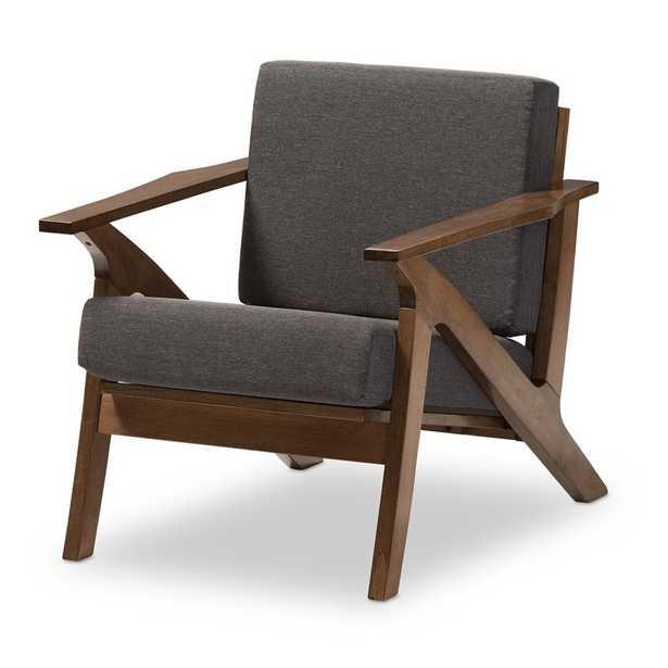 Cayla Mid-Century Modern Living Room 1-Seater Lounge Chair - Lark Interiors