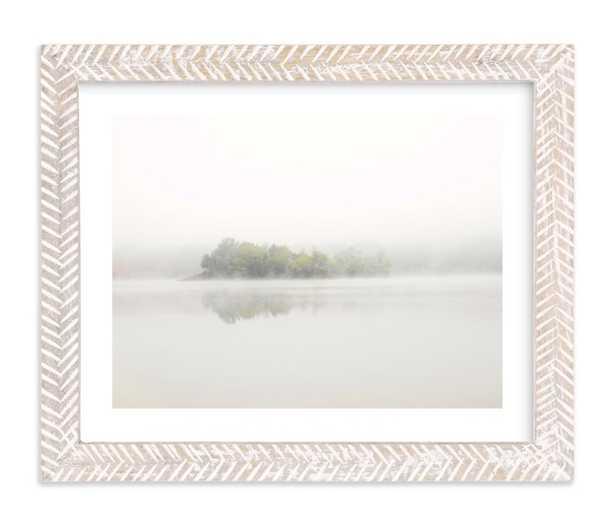 The Island, Whitewashed Herringbone Frame, White Border, 8x10 - Minted