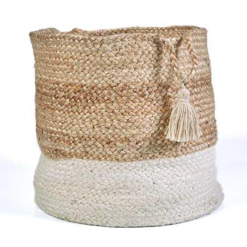 Natural Jute Hand Crafted Basket - Wayfair
