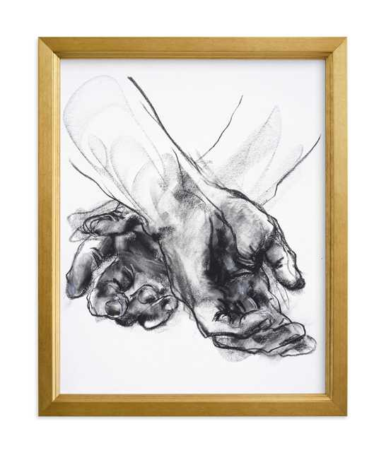 18x24 Drawing 561 - Crossed Hands Art Print - Minted